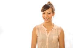 Glückliches Gesicht der Asiats-Latina-Mädchenfrau Stockfoto