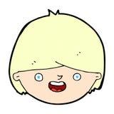 glückliches Gesicht der komischen Karikatur Lizenzfreie Stockfotografie