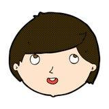 glückliches Gesicht der komischen Karikatur Stockfoto
