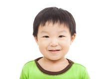 Glückliches Gesicht des kleinen Jungen lizenzfreie stockfotos