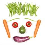 Glückliches Gesicht mit Gemüse Lizenzfreies Stockfoto
