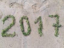 Glückliches grünes Jahr 2017 Stockfotos