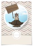 Glückliches Groundhog Day. Stockbilder