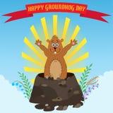 Glückliches Groundhog Day Stockbilder