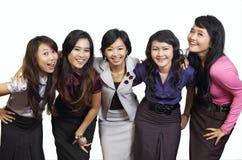 Glückliches Gruppen-Lächeln Stockfoto
