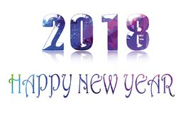 Glückliches guten Rutsch ins Neue Jahr 2018 Stockbild