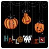 Glückliches Halloween-Abdeckungsdesign stockbild