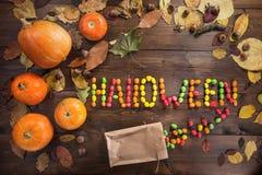 Glückliches Halloween! Das Konzept des Feiertags lizenzfreie stockfotos