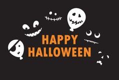 Glückliches Halloween - Farbhintergrundeinladung Stockbilder