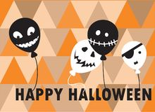 Glückliches Halloween - Farbhintergrundeinladung Lizenzfreie Stockfotos