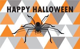 Glückliches Halloween - Farbhintergrundeinladung Lizenzfreies Stockfoto
