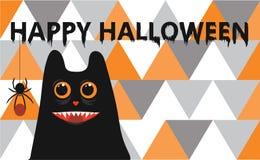 Glückliches Halloween - Farbhintergrundeinladung Stockfoto