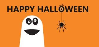 Glückliches Halloween - Farbhintergrundeinladung Lizenzfreie Stockfotografie
