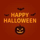Glückliches Halloween-Feiertagskarten-Anzeigendesign Lizenzfreie Stockfotografie