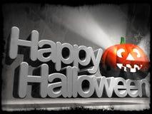 Glückliches Halloween-Kürbiszeichen Lizenzfreies Stockfoto