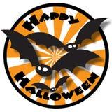 Glückliches Halloween mit Hieben Lizenzfreie Stockfotos