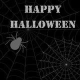 Glückliches Halloween mit Spinne Stockbild