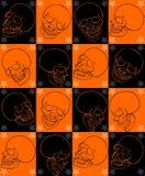 Glückliches Halloween-Monsterhandzeichnungsbild Stockbild