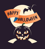 Glückliches Halloween-Plakat Lizenzfreies Stockfoto