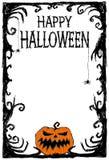 Glückliches Halloween-Plakat Sie können Design von Grußkarten, von Einladungen, von Saisonkarten, von Geschenktags und von vielen Stockfotografie