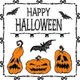 Glückliches Halloween-Plakat Sie können Design von Grußkarten, von Einladungen, von Saisonkarten, von Geschenktags und von vielen Stockbilder