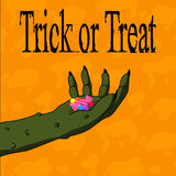 Glückliches Halloween Süßes sonst gibt's Saures Lizenzfreie Stockbilder