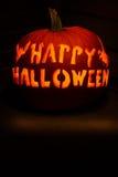 Glückliches Halloween schnitzte Kürbis Stockfotografie