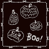 Glückliches Halloween-Set Stockfoto