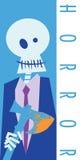 Glückliches Halloween-Skelett Stockfoto