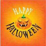 Glückliches Halloween-Vektor-Design Lizenzfreie Stockfotografie