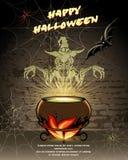 Glückliches Halloween-Vektorkartendesign Stockbild