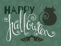 Glückliches Halloween-Weinleseplakat Stockbild