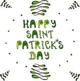 Glückliches Heiliges Patriks-Tagesbeschriftungs-Plakat oder Karte Lizenzfreie Stockfotografie