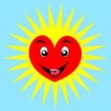 Glückliches Herz der Karikatur Stockfoto