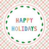 Glückliches holidays21 Stockbild
