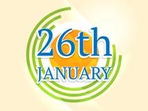 Glückliches indisches Tag der Republik-Feierkonzept Lizenzfreies Stockbild