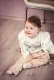 Glückliches jähriges Baby Lizenzfreie Stockfotos