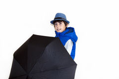Glückliches jugendlich mit Autumn Clothes Stockfotos