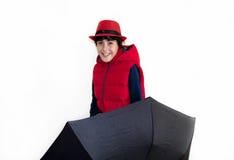 Glückliches jugendlich mit Autumn Clothes Stockfotografie