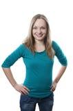 Glückliche junge Blondine Lizenzfreies Stockfoto