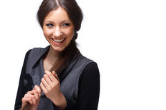 Glückliches junges Mädchen. Lizenzfreie Stockbilder