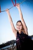 Glückliches junges Mädchen stockfotos
