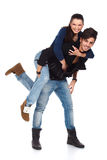Glückliches junges Paarspielen Lizenzfreies Stockbild