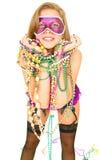 Glückliches Karneval-Mädchen Stockbild