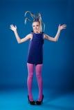 Glückliches Karnevalsmädchen lizenzfreies stockfoto