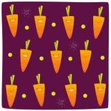 Glückliches Karottenmuster Lizenzfreies Stockfoto