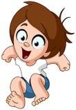 Glückliches Kind, das für Freude springt vektor abbildung