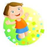 Glückliches Kind (kleiner Junge) Vektor Abbildung