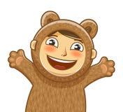 Glückliches Kind Lächelndes Kind der Freude Baby, Karikaturvektorillustration Lizenzfreie Stockfotografie