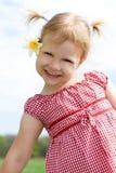Glückliches Kind mit Blume. stockbilder